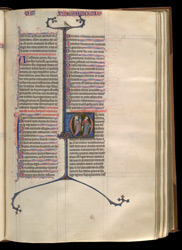 Historiated Initial To Deuteronomy, In 'The Ashridge Petrus Comestor'